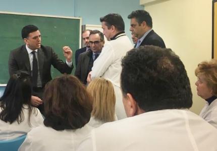 Ξανά σε εφαρμογή από σήμερα η 24ωρη λειτουργία του Κ.Υ. Μεγάρων - Δηλώσεις Υπουργού Υγείας Βασίλη Κικίλια και Υφυπουργού Υγείας Βασίλη Κοντοζαμάνη