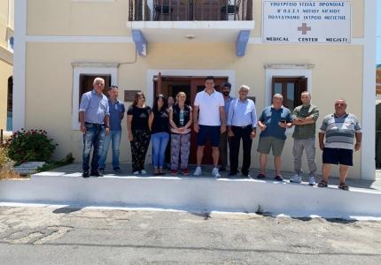 Ο Υπουργός Υγείας, Β. Κικίλιας στο Καστελόριζο. Ενίσχυση και επιπλέον στελέχωση του Πολυδύναμου Περιφερειακού Ιατρείου του νησιού