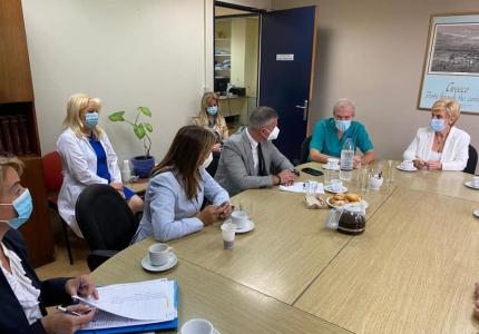 Επίσκεψη Υφυπουργού Υγείας Ζωής Ράπτη στο ΓΝΑ