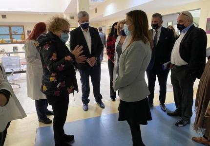 Επίσκεψη Υφυπουργού Υγείας Ζωής Ράπτη στο Γενικό Νοσοκομείο Αττικής Σισμανόγλειο- Αμαλία Φλέμινγκ