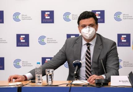 Υπογραφή συμφωνίας για το νέο γραφείο του Π.Ο.Υ. στην Αθήνα από τον Υπουργό Υγείας Βασίλη Κικίλια και τον Περιφερειακό Διευθυντή Ευρώπης του Π.Ο.Υ. Hans Kluge
