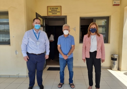 Επίσκεψη Υφυπουργού Υγείας Ζωής Ράπτη στο Γενικό Νοσοκομείο Χανίων «Ο Άγιος Γεώργιος»