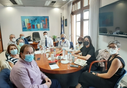 Επίσκεψη του Υπουργού Υγείας Θ. Πλεύρη και της Αναπληρώτριας Υπουργού Υγείας Μ. Γκάγκα στη Θεσσαλονίκη