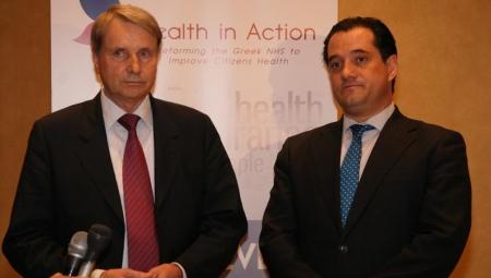 Συνάντηση του Υπουργού Υγείας, κ. Άδωνι Γεωργιάδη, με τον επικεφαλής της Task Force στην Ελλάδα, κ. Χορστ Ράιχενμπαχ.