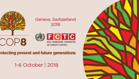 8η Σύνοδος των Μερών της Σύμβασης Πλαίσιο για τον Έλεγχο του Καπνού του Π.Ο.Υ.  - COP8 WHO FCTC (1-6/10/2018, Γενεύη- Geneva)