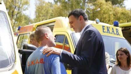 Δήλωση Υπουργού Υγείας Βασίλη Κικίλια κατά την επίσκεψή του στο ΕΚΑΒ