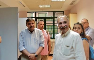Επίσκεψη του υπουργού Υγείας, Ανδρέα Ξανθού στον 1ο Χώρο Εποπτευόμενης Χρήσης στην οδό Καποδιστρίου στο κέντρο της Αθήνας