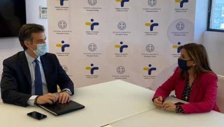 Συνάντηση Υφυπουργού Υγείας Ζωής Ράπτη με τον Πρόεδρο του ΕΟΔΥ Παναγιώτη Αρκουμανέα