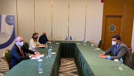 Συνάντηση Υπουργού Υγείας Βασίλη Κικίλια και Υφυπουργού Υγείας Ζωής Ράπτη με τον Περιφερειακό Διευθυντή Ευρώπης του Παγκόσμιου Οργανισμού Υγείας Hans Kluge