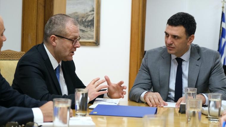 Συνάντηση Υπουργού Υγείας Βασίλη Κικίλια με τον Περιφερειακό Διευθυντή του ΠΟΥ για την Ευρώπη Hans Kluge