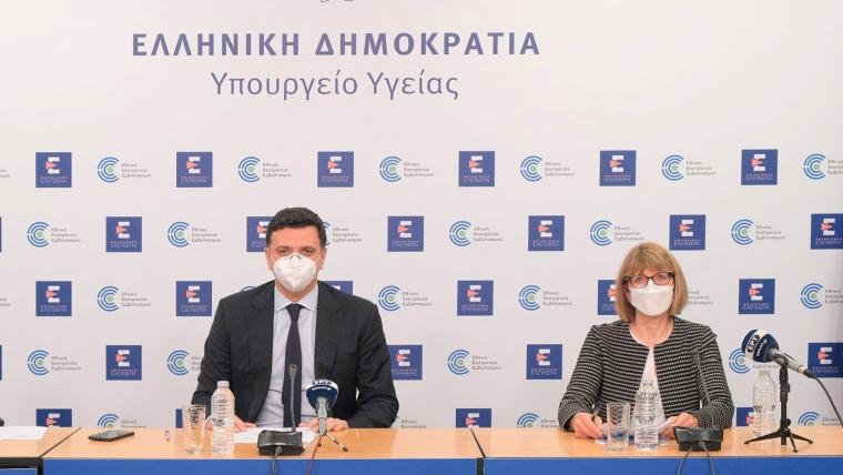 Ενημέρωση διαπιστευμένων συντακτών Υπουργείου Υγείας από τον Υπουργό Υγείας Βασίλη Κικίλια και την Καθηγήτρια Παιδιατρικής και Λοιμωξιολογίας Μαρία Τσολιά