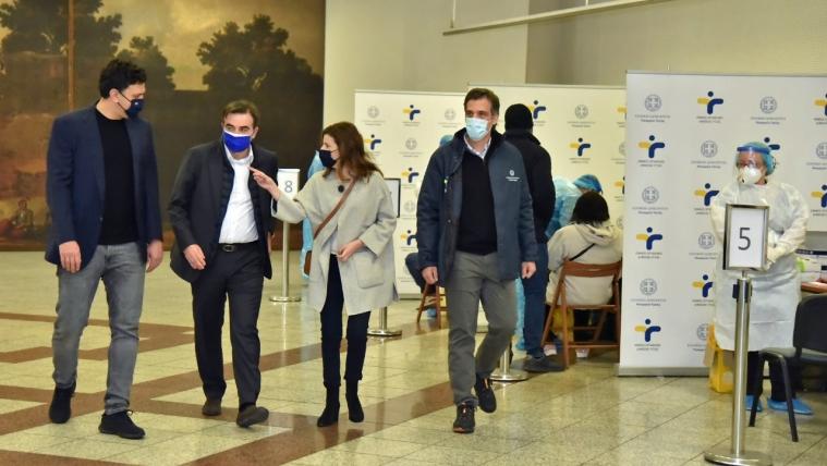 Τις ΚΟΜΥ του ΕΟΔΥ στην πλατεία Συντάγματος επισκέφθηκαν ο Υπουργός Υγείας, ο Αντιπρόεδρος της Ευρωπαϊκής Επιτροπής και ο Πρόεδρος του ΕΟΔΥ