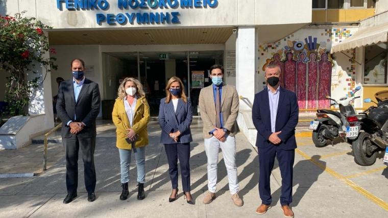 Επίσκεψη Υφυπουργού Υγείας Ζωής Ράπτη στο Ρέθυμνο και στο Αρκαλοχώρι Ηρακλείου