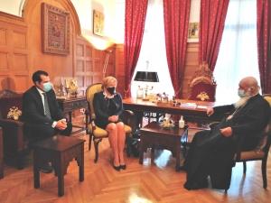 Συνάντηση του Υπουργού Υγείας Θ. Πλεύρη και της Αν. Υπουργού Μίνας Γκάγκα με τον Μακαριώτατο Αρχιεπίσκοπο κ.κ. Ιερώνυμο
