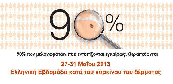 Ελληνική εβδομάδα κατά του καρκίνου του δέρματος