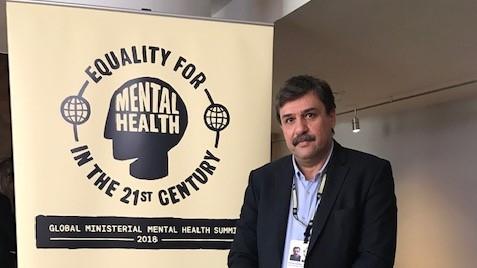 Παρέμβαση του υπουργού  Υγείας, Ανδρέα Ξανθού στο Διεθνές Forum για τη Ψυχική Υγεία,  στο Λονδίνο