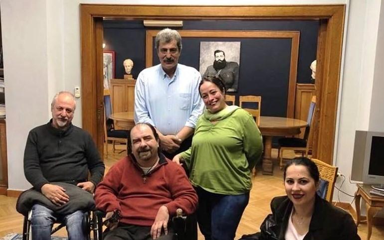 Συνάντηση του αν. Υπουργού Υγείας, Παύλου Πολάκη με τους εκπροσώπους του Πανελλήνιου Συλλόγου Παραπληγικών