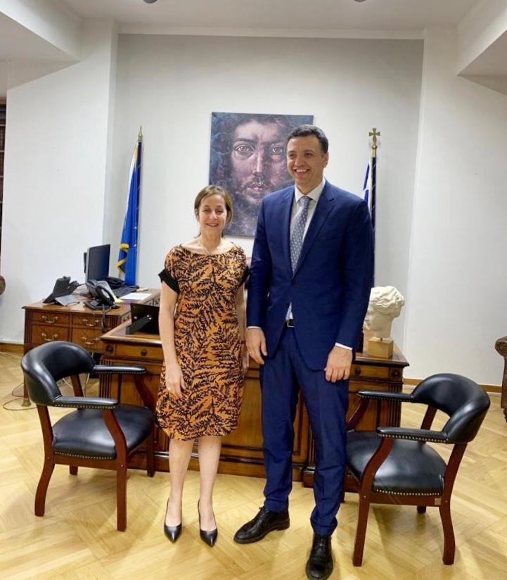 Συνάντηση Υπουργού Υγείας με την Πρέσβη του Ισραήλ