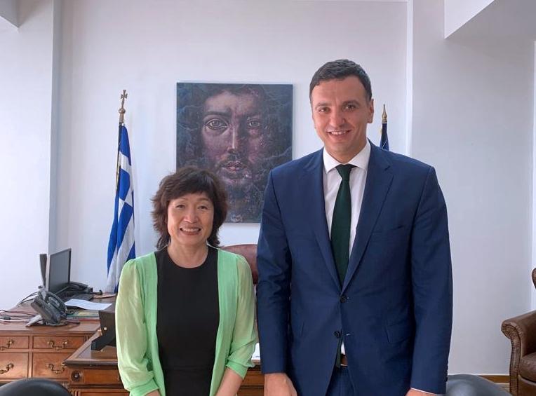 Συνάντηση Υπουργού Υγείας Βασίλή Κικίλια με την Πρέσβη της Λαϊκής Δημοκρατίας της Κίνας