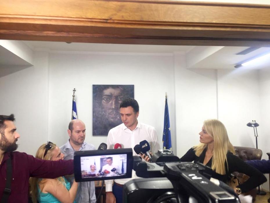 Δηλώσεις μετα τη συνάντηση του Υπουργού Υγείας Βασίλη Κικίλια με τον κ. Γιώργο Γλωσσιώτη