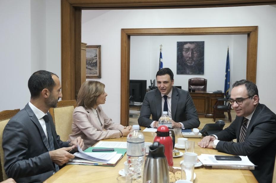 Συνάντηση Υπουργού Υγείας Βασίλη Κικίλια με την Επίτροπο Υγείας και Ασφάλειας Τροφίμων Στέλλα Κυριακίδου