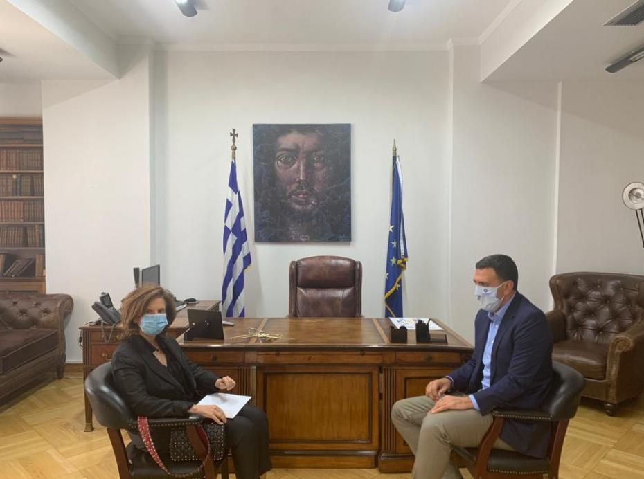 Συνάντηση του Υπουργού Υγείας, Β. Κικίλια με την Πρέσβειρα του Λιβάνου, Dona Barakat