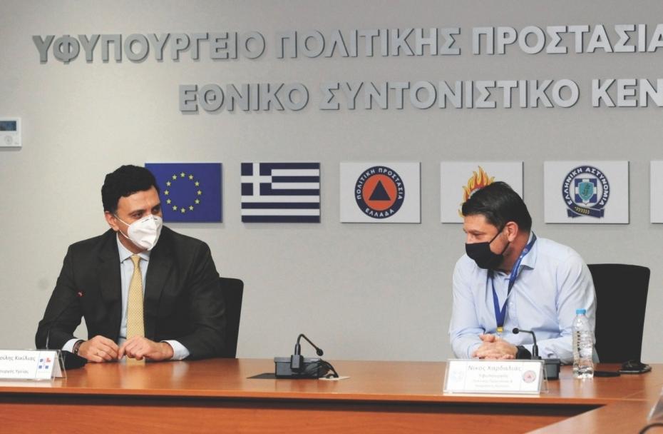 Δηλώσεις Υπουργού Υγείας Βασίλη Κικίλια και Υφυπουργού Πολιτικής Προστασίας & Διαχείρισης Κρίσεων Νίκου Χαρδαλιά από την Πολιτική Προστασία