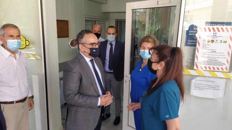 Επίσκεψη Αναπληρωτή Υπουργού Υγείας Β. Κοντοζαμάνη σε υγειονομικές δομές του Νομού Λακωνίας