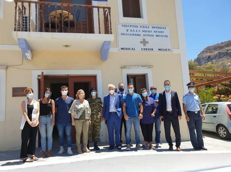 Ο Γενικός Γραμματέας ΠΦΥ Μάριος Θεμιστοκλέους στο Πολυδύναμο Περιφερειακό Ιατρείο Μεγίστης και στα εγκαίνια του φαρμακείου του νησιού